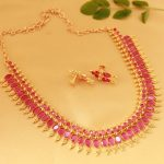 Attractive Stone Necklace Set From Magha Store