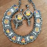 Beautiful Handpainted Ganesha Set From Bcos Its Silver