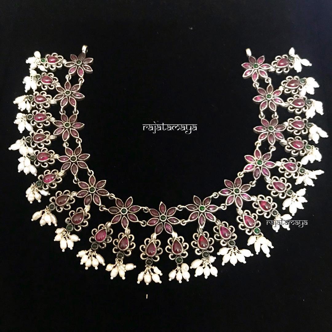Classy Guttapusalu Necklace From Rajatmaya