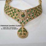 Designer Choker From Mahalakshmi Jewellers And Pearls