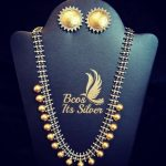 Dual Tone Ball Necklace From Bcos Its Silver