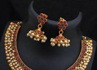 Elegant Simple Necklace Set From Dhruvam