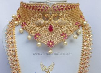 Exordinary Bridal Jewellery Set From Vibha Creationz