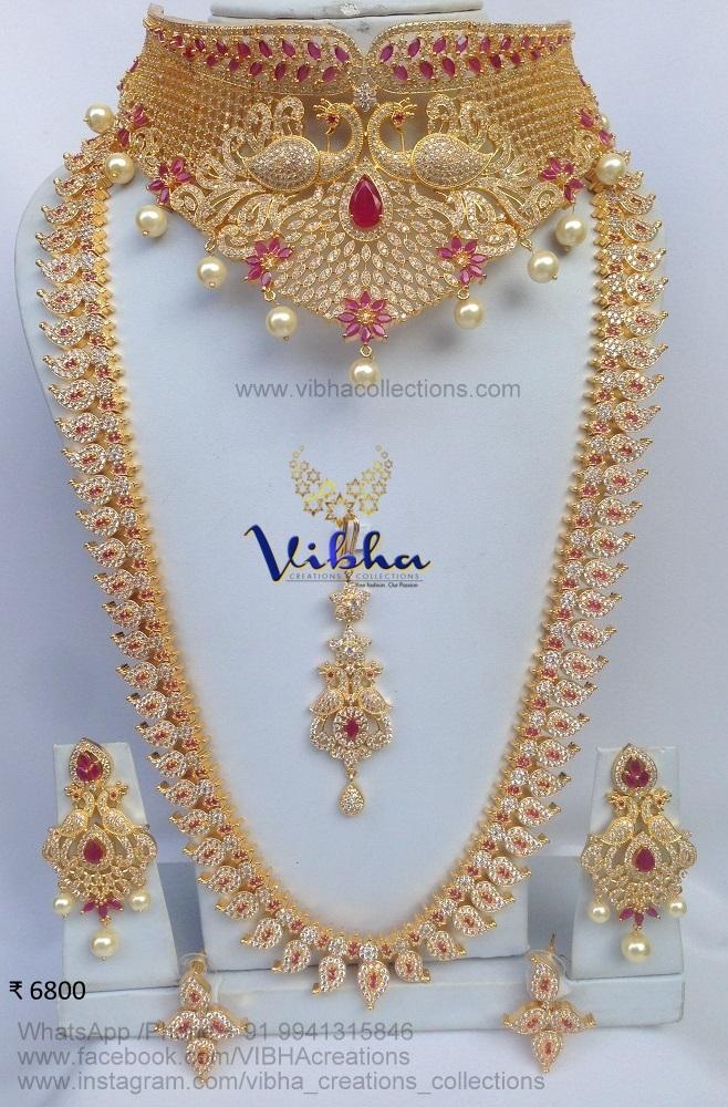 Exordinary Bridal Jewellery Set From Vibha Creationz