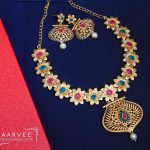 Gorgeous Floral Necklace Set From Aarvee