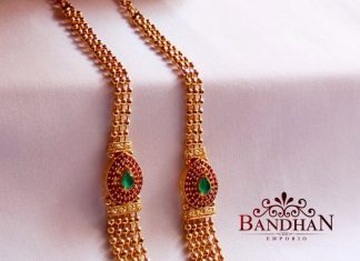 Gorgeous Gold Plated Haram From Bandhan