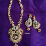 Matt Finish Peacock Necklace From Kruthika Jewellery