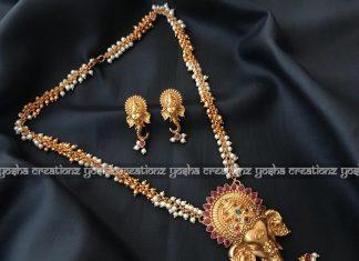 Mesmerising temple jewellery set from Yoshacreationz