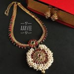 Pearl Bunch Long Necklace Set From Aarvee