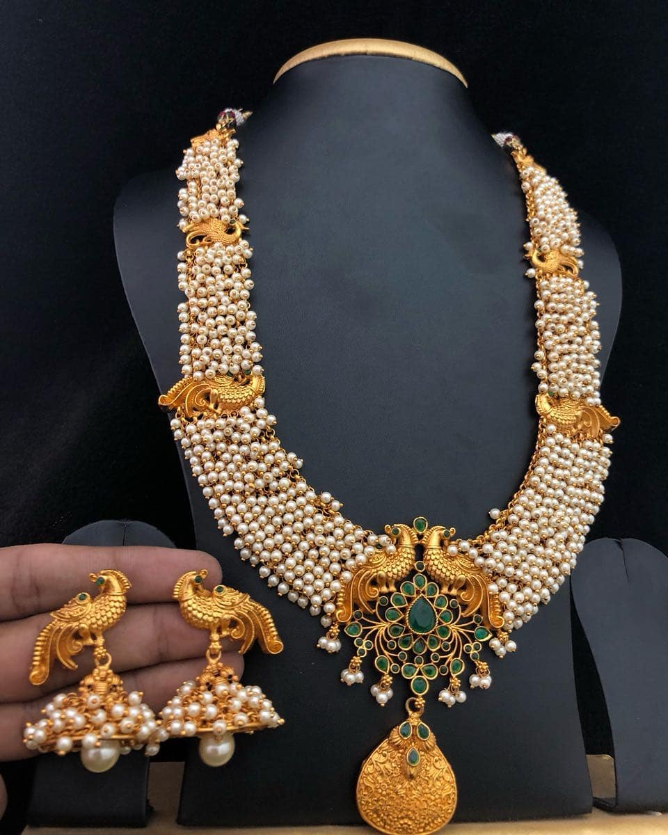 Pearl Necklace Set From Embelish Chennai