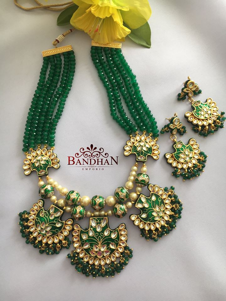 Peculiar Beaded Necklace From Bandhan