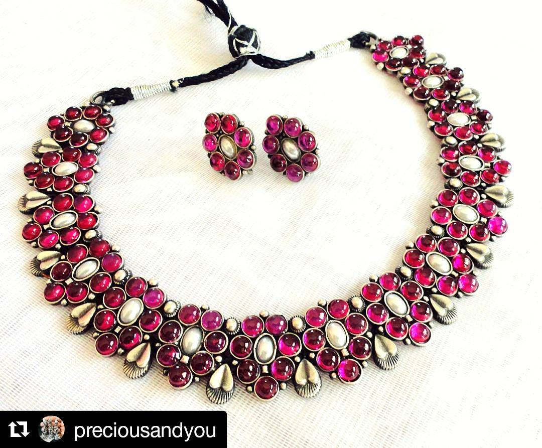 Ruby Pearl Stone Set From precious and You