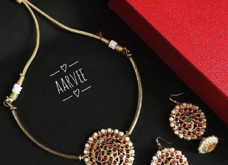 Simple Kemp choker Set From Aarvee