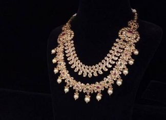 Two Layer Necklace From Bhavani Jewellers