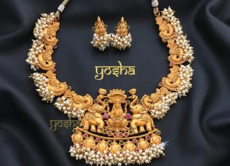 Antique Goldplated Temple Necklace From Yosha Creationz