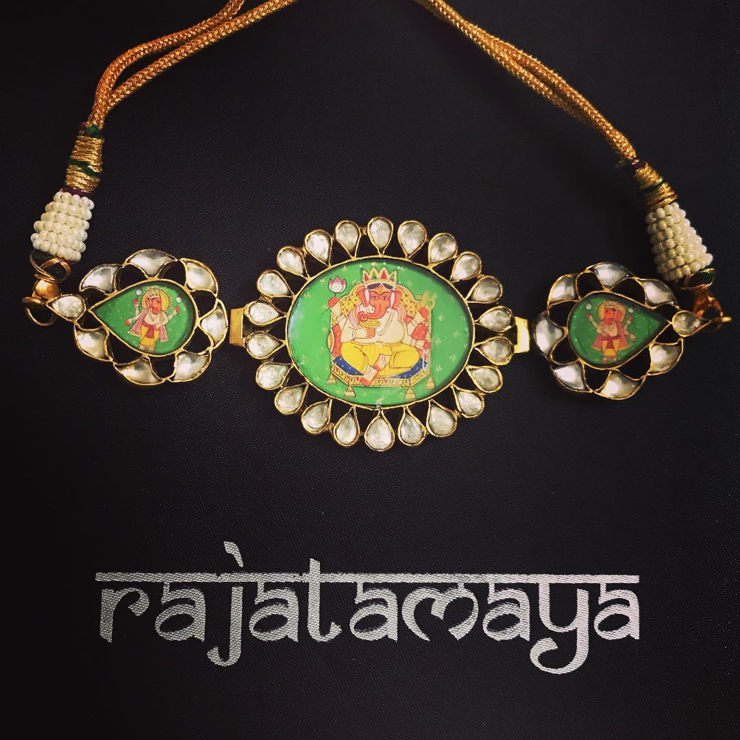 Antique Handmade Polki Choker From Rajatmaya