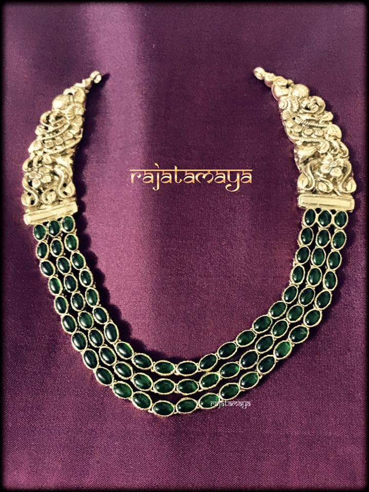 Antique Layered Necklace From Rajatmaya