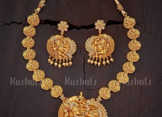 Antique Temple Necklace From Kushal Fashion Jewellery