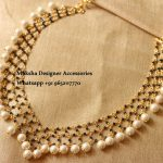 Beautiful Pearl Necklace From Moksha