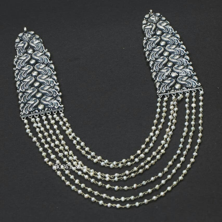 Beautiful Pearl Silver Necklace From Bcos Its Silver
