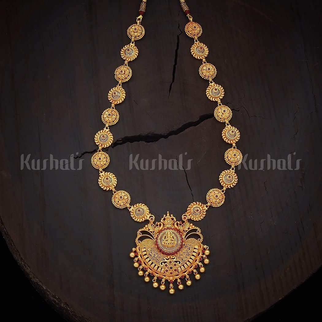 Beautiful Temple Long necklace From kushal's Fashion Jewellery
