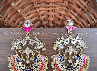 Big Cutwork Kundan Chandbalis