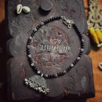 Black Beaded Necklace From Aabharanam