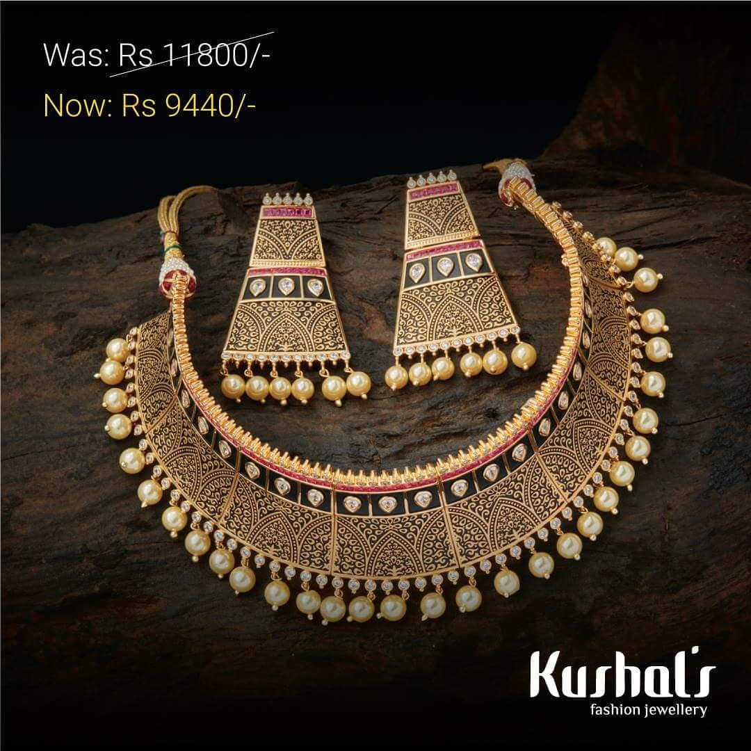 Bold Choker Set From Kushal's Fashion Jewellery