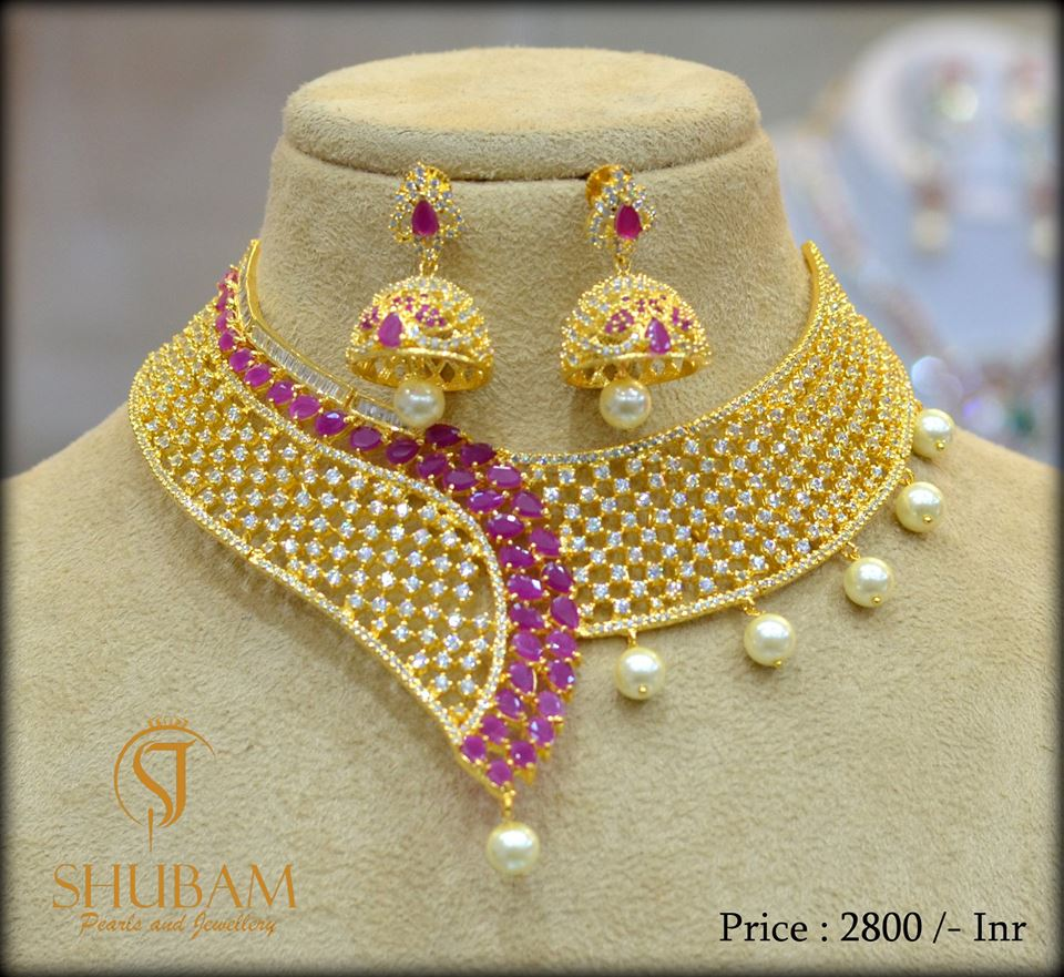 Designer Choker From Subham Pearls And Jewellery