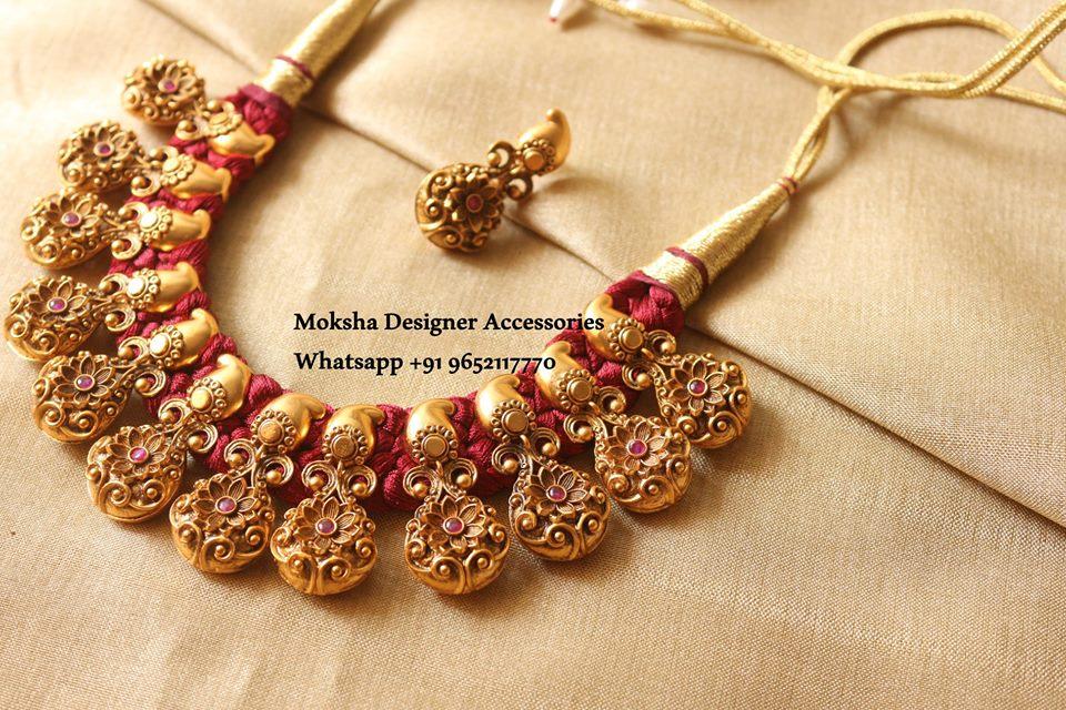 Floral Designer Necklace From Moksha