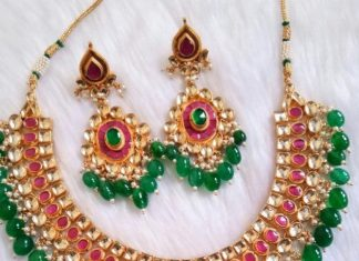 Green Crystal Beads Necklace From Bandhan
