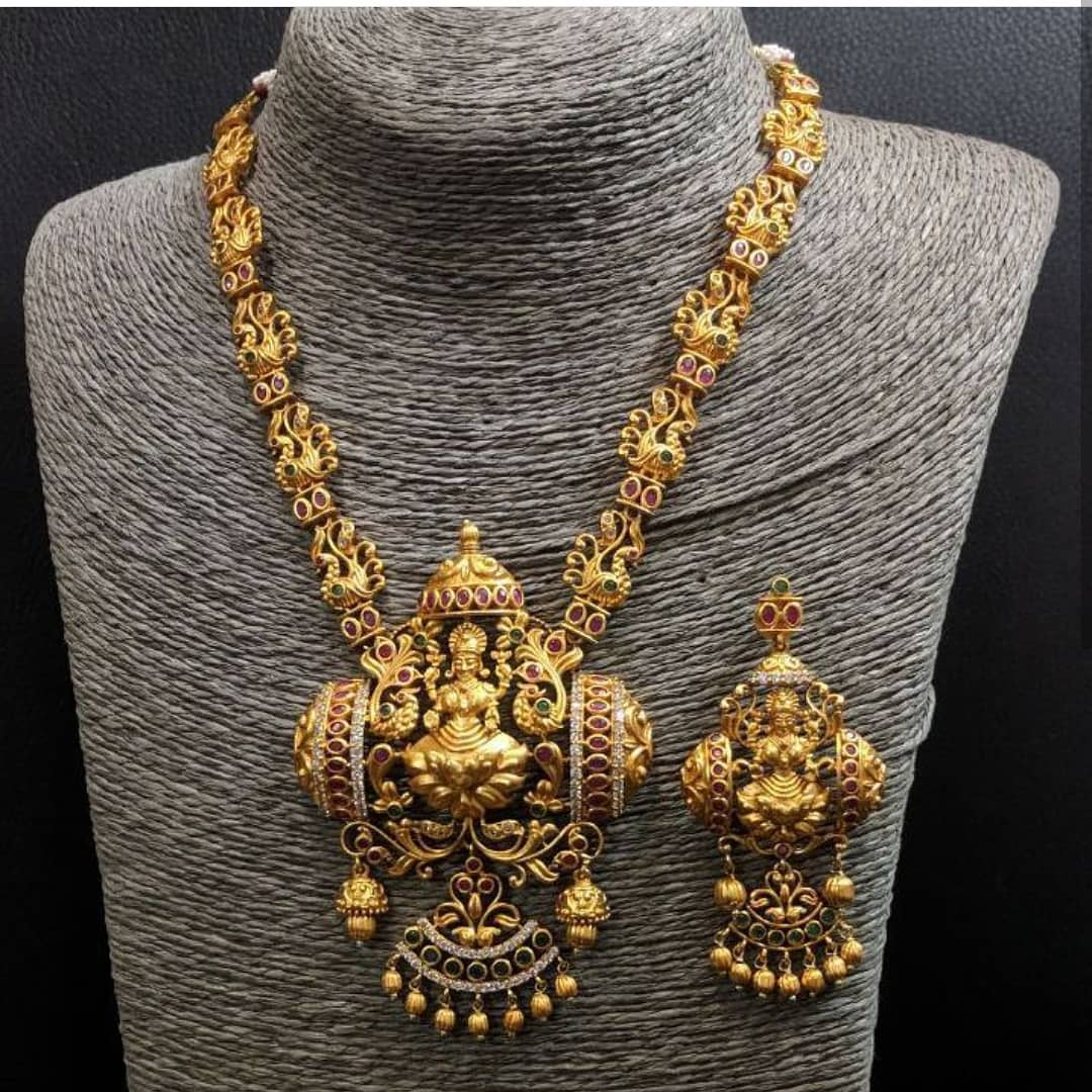 Lakshmi Matt Necklace From Mia Fashions