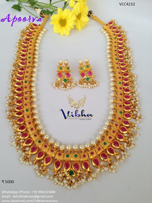 Lovely Long Necklace Set From Vibha Creations