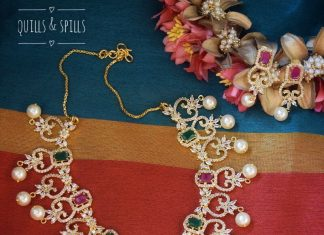 Ruby Emerald Necklace From Quills And Spills