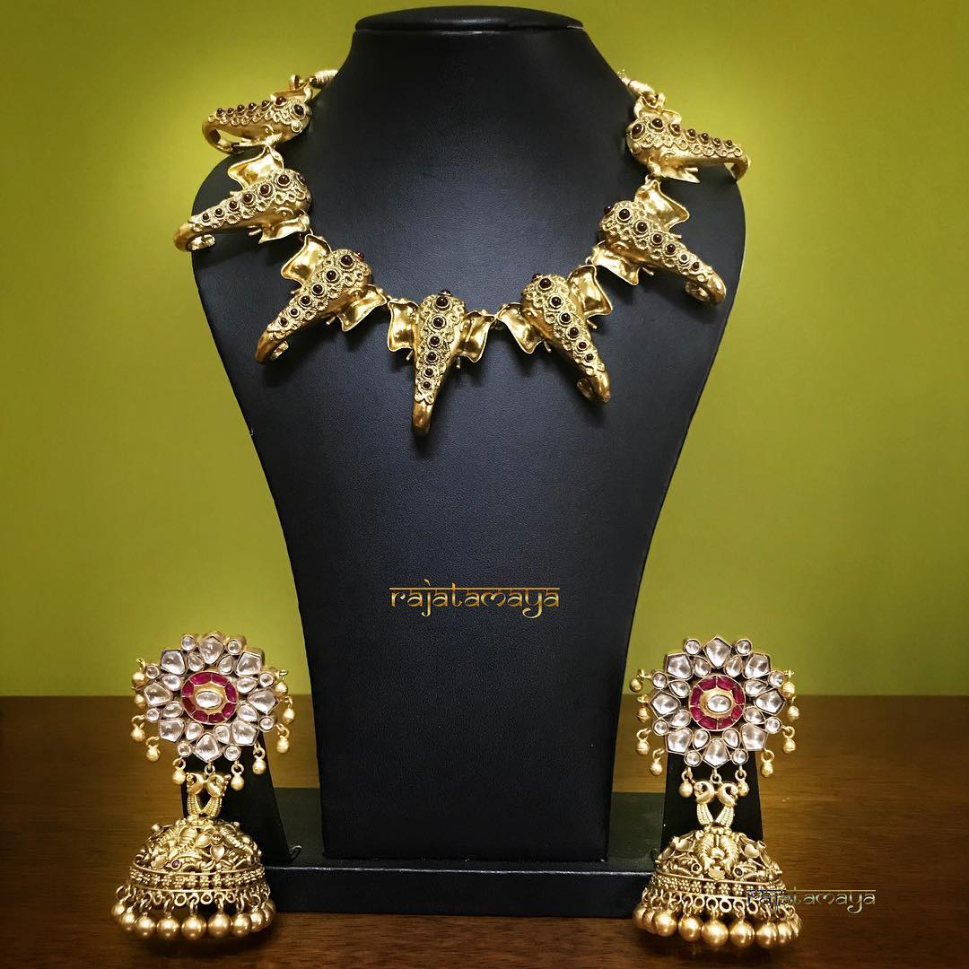 Silver Ganesa Necklace From Rajatmaya