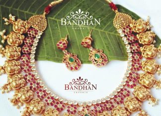 Silver Gold Plated Necklace from Bandhan