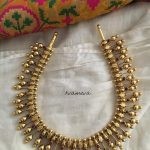 Silver Gold Polish Spikes Necklace From Tvameva
