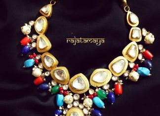 Silver Handmade Polki Necklace From Rajatmaya