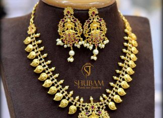 Simple Mango Necklace From Shubam Pearls And Jewellery