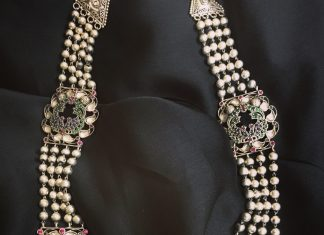 Stylish Kundan Beads Necklace From Rajatmaya