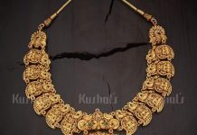Tradtional Temple-Mango Necklace From Kushal Fashion Jewellery