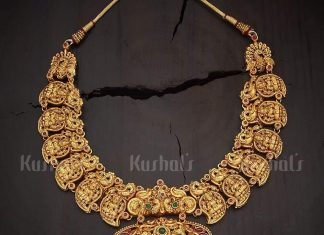 Tradtional Temple-Mango Necklace From Kushal Fashion Jewellery