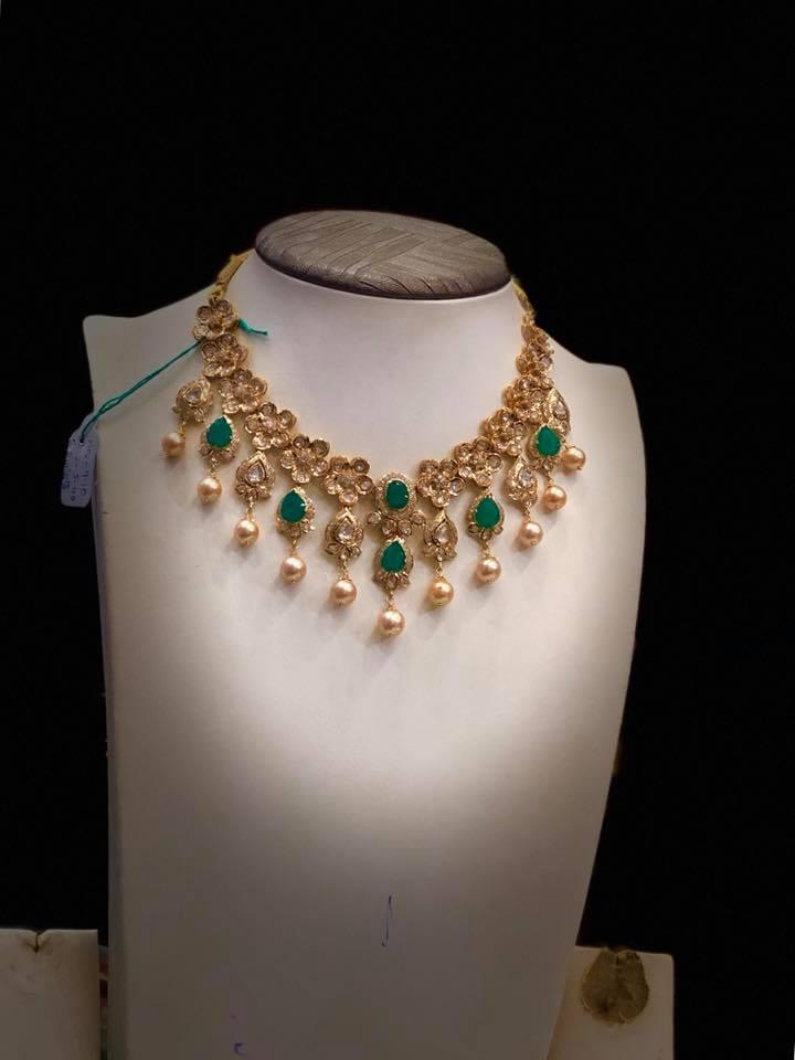 Adorable Gold Necklace From Premraj Shantilal Jain
