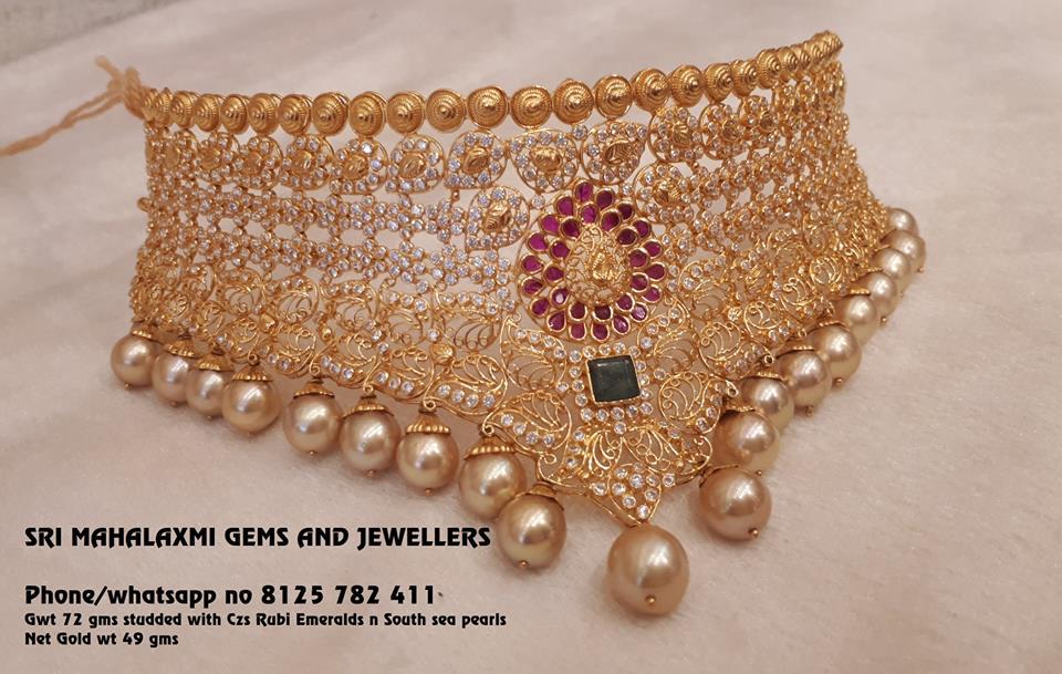 Bold Choker From Mahalakshmi Jewellers