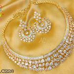 CZ Stone Choker Set From Accessory Villa