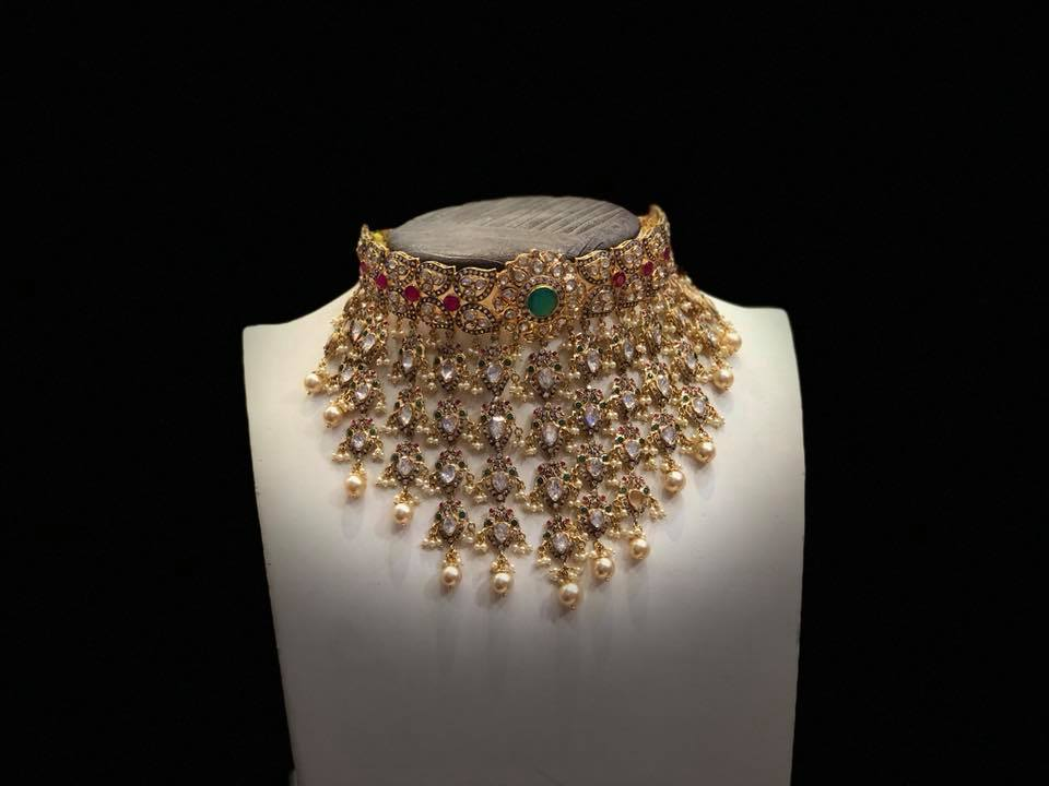 Charming Gold Choker From Premraj Shantilal Jain