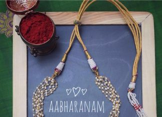 Cute Imitation Choker From Aabharanam