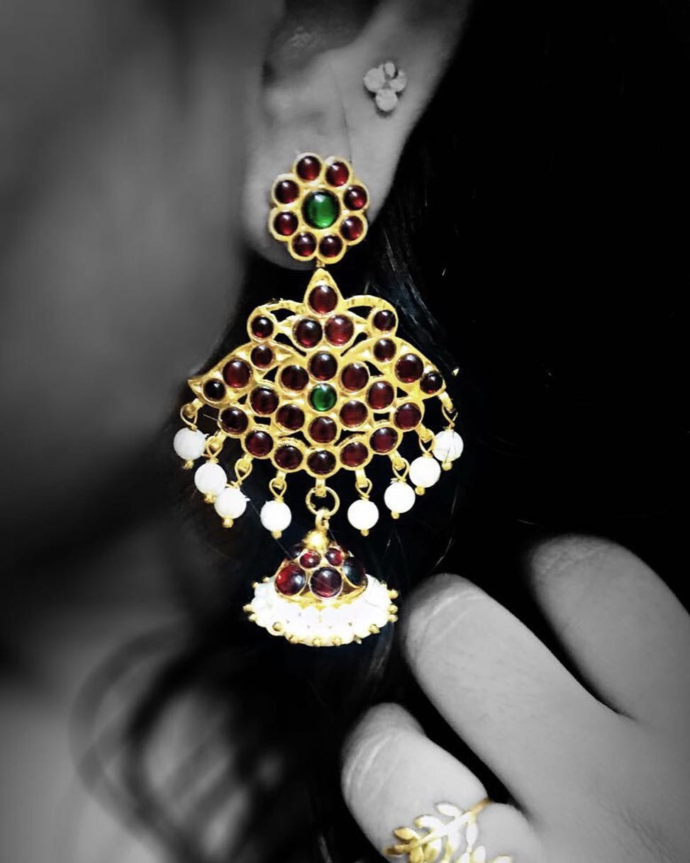 Dangling Earring From Abharanam