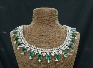 Exquisite Swarovski Necklace From Bcos Its Silver