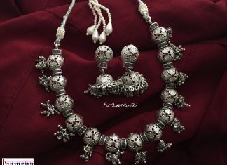 German Silver Necklace Set From Tvameva